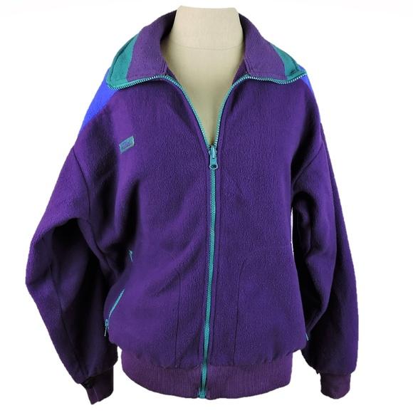 f224dea31da98c Columbia Jackets   Blazers - Columbia vintage 80s fleece jacket zip up  purple